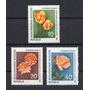 D D R 1961 Mi 854/56** Yv 556/58 Mint Flores Tulipanes Rosas