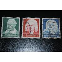 Alemania Iii Reich Serie Comp. Michel N°573-4-5 Usada