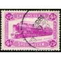 Bélgica Sello Encomienda Usado Locomotora Goliath Año 1933