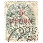 Colonia Francesa Marruecos 5 C.sobrecarga Roja Año 1900