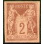 Francia = Colonias Francesas Sello Nuevo Paz Y Comercio 1878