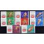8 Estampillas Hungria Juegos Olimpicos Innsbruck Año 1963