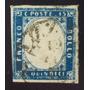 Italia, Sello Sc 22 Emanuel Ii 15c Azul S Dentar Usado L6493