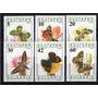 6 Estampillas De Bulgaria Tema Mariposas Año 1990