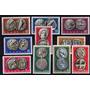 10 Estampillas De Grecia Tema Monedas Antiguas Año 1959