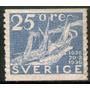 Suecia Sello Nuevo 300° Correo Sueco = Buque A Vapor 1936