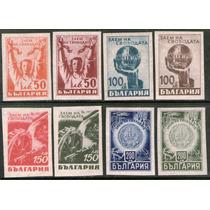 Bulgaria Serie X 8 Sellos Bulgaria Liberada 2° Guerra 1945