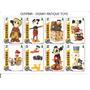 3 Hojitas Disney Con 22 Estampillas Mickey Pluto Hercules