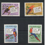 Colombia 1974 Serie Completa Mint Aves Loro Pajaros