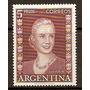Eva Peron Eterna En Su Pueblo - 5 $ C/ Inscripción - 1952 -