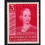 Hermosa Estampilla Eva Peron Año 1954 Segundo Aniversario