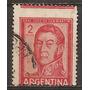Argentina San Martín Variedad Usada 604c Gj 1133 Año 1961