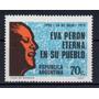 Argentina 1973 Gj 1611** Me 946 Mint, Eva Perón En Discurso