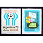 Argentina, Serie Gj 1769-70 Mundial Fútbol 78 Mint L5083
