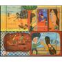 Argentina 2 Blocs X 4 Sellos Juegos Infantiles Tradicionales