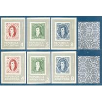 Argentina 1353/ 1354 Rivadavia Variedad Filigranas Invertida