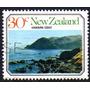Nueva Zelanda Sello Usado Paisajes Marítimos Año 1977