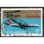 Australia Sello Usado Aviones Boeing 707 Y Avro 504 Año 1970