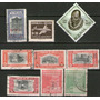Bolivia 9 Sellos Aéreos Resellados Años 1945-61