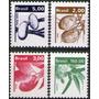 Brasil Serie X 4 Sellos Mint Hortalizas Y Frutos Años 1982-4