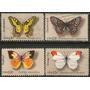 Estados Unidos Serie Completa X 4 Sellos Usados Mariposas