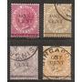 Malacca Malaya Colonia Britanica 4v. Usados Año 1883 Joya!!!