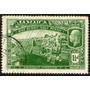 Jamaica Sello Usado 1° Guerra Mundial = Soldados = Barco 191