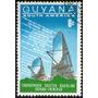 Guyana Sello Usado Antena Satelital Año 1968