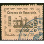 Venezuela Antiguo Sello Usado X 5c. Barco A Vapor Año 1903
