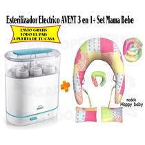 Esterilizador 3 En 1 Mamaderas Electrico Avent+set Mama Bb
