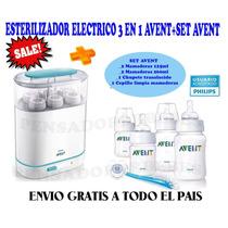 Esterilizador Electrico 3 En 1 Philips Avent+set Avent