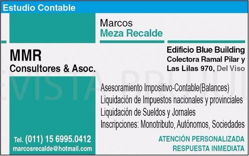 Estudio Contable-impositivo En Pilar ( Contador Publico )