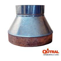 Qutral, Reducción Galvanizada 10 A 8 Pulgadas, Estufa A Leña