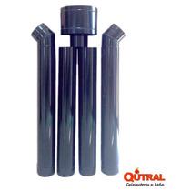 Qutral Kit De Instalacion Para Estufa A Leña Pared Enlozado