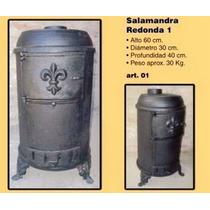 Salamandra Redonda De Fundiciòn Para Leña ¡¡¡super Oferta!!!