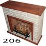 Hogar Frontal O Esquinero Simil Piedra Leños 5000 Kcal+kit