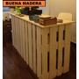 Mostrador De Recepcion Rustico // Buena Madera