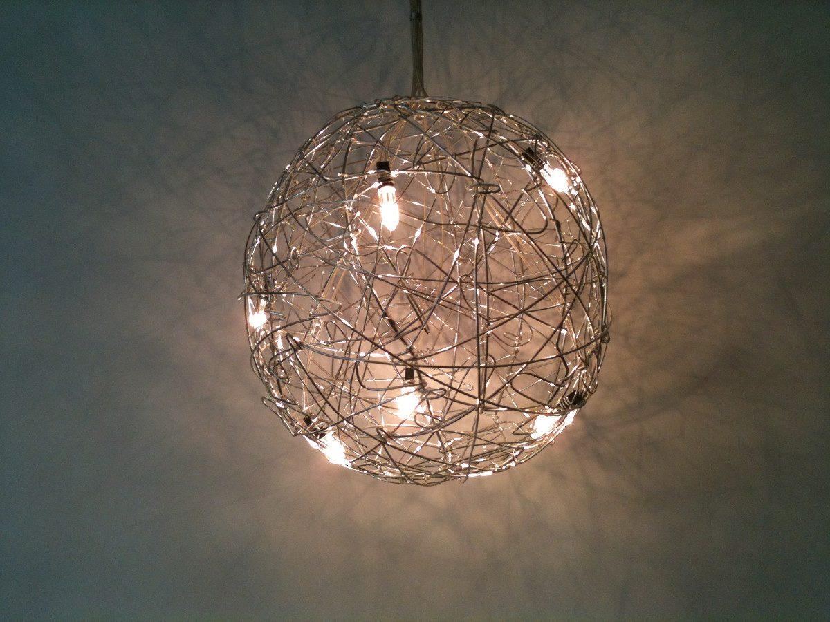 Como hacer lamparas colgantes de cama o materiales - Lampara de techo roja ...