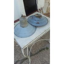 Vintage / Art.deco 2 Antiguas Lámparas Enlozadas Excelente