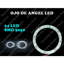 Luz Ojo Angel 24 Led Blanco Simil Xenon Tuning Alto Brillo