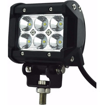 Faro Auxiliar Proyector 6 Led Cree 18w Off Road Autos Motos