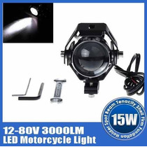 Kit Luces Faros Auxiliares Led Cree U5 3000lm Para Motos