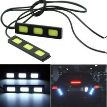 Luces Faros Cob 3 Leds Auxiliares Auto Tuning Daytime