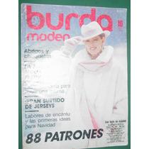 Revista Burda Moda Ropa Costura Vintage 10/86 Sin Moldes