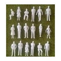 Lote De 50 Personas Blancos Personajes Maqueta Esc 1:50/1:43