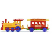 Locomotora Con Vagon Pasajero En Plastico 90 Cm -calesita-