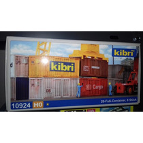 Kibri Set De 8 Containers 20 Ho Zona Sur Y Caballito