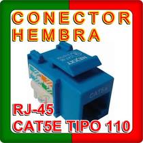 Conector Hembra Rj-45 Cat5e Tipo 110 Azul Local En Lanus