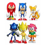 Lote Sonic The Hedgehod 6 Figuras Sonic Y Amigos