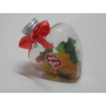 Frasco Corazón Para Golosinas X Unidad, Souvenir Candy Bar
